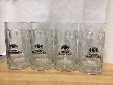 Lot of 4 Haller Lowenbrau Beer Mugs - 0.5L