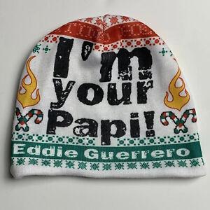 Eddie Guerrero WWE Beanie Latino Heat I'm Your Papi Christmas Hat Cheat 2 Win