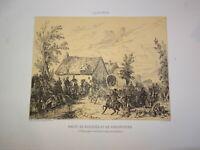 Jules Antoine DUVAUX (Bordeaux 1818-1884) GRAVURE MILITAIRES NAPOLEON III 1860