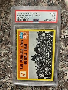 1967 PHILADELPHIA FOOTBALL #169 San Francisco 49ERS  PSA 5 KGC-31695