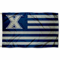 Xavier University Musketeers Stars and Stripes Nation USA Flag