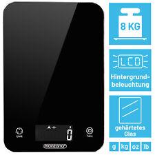 Monzana® Küchenwaage Haushaltswaage LCD Digitalwaage schwarz Beleuchtung 8kg/1g