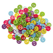 100 Mixed Resin Buttons 9mm Good Quality Sewing scrapbooking Craft card making