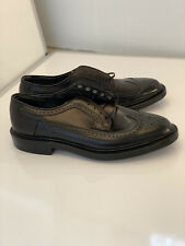 NEW | HANOVER 8D BLACK SHELL CORDOVAN LB SHEPPARD LONGWING BLUCHER DRESS SHOES