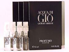 GIORGIO ARMANI ACQUA DI GIO PROFUMO 1.5ml .05oz x 4 COLOGNE SPRAY SAMPLE VIALS