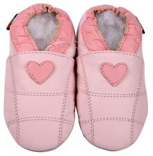 shoeszoo soft sole leather toddler shoes pink heart 3-4y S