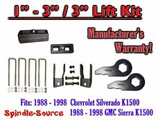 "1988 - 98 Chevrolet GMC 1500 Torsion Level 1"" - 3"" FORGED KEYS + EXT + 3"" Blocks"