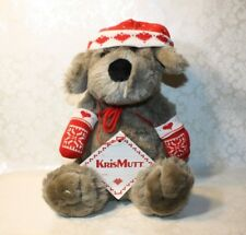"Vintage Target KRIS MUTT Christmas Dog 14"" Plush With Tag, Hat & Mittens"