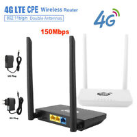 150Mbps 4G LTE Wireless Router Mobile Wifi SIM Card Wireless CPE with LAN Port