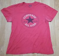 Converse All Star T Shirt Tee Top Short Sleeves Crew Neck Cotton Red Size XL