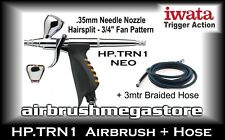 Iwata Neo Airbrush HP.TRN1 .35mm Inc: 3mtr Braided Hose + Free Insured Post