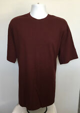 Mens Duluth Trading Co Longtail T Shirt Large burgundy 100% cotton