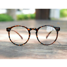1920 Vintage oliver rétro lunettes rondes 41R82 Leopard de style eyewear cadres