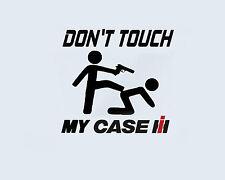 Don't Touch my CASE Truck Traktor Landmaschine Aufkleber Sticker Folie Logo