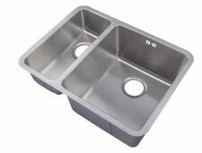 Brushed Stainless Steel Undermount 1.5 Bowl Kitchen Sink Sinks (D03R)