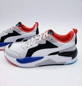 Puma X-Ray Red White Blue Black Fashion Running Sneakers 372602 Men's Size 11.5
