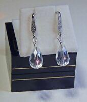 Handmade Crystal and Diamante Drop Earrings
