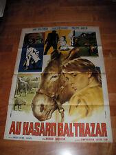 """MANIFESTO 2F """"AU HASARD BALTHAZAR"""" R. BRESSON A. WIAZEMSKY LAFARGE RARO!!!!!"""