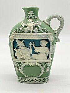 Vintage Jasperware Drinking Flask By  SCHAFER & VATER Germany