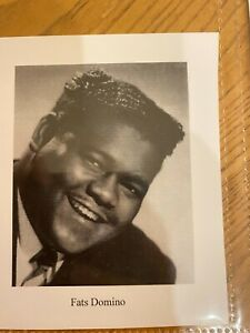 Fats Domino Autographed Index Size paper with COA