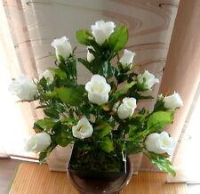 Rosenbusch weiß künstliche Blumen-Deko