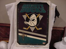 ULTRA RARE 1990's Anaheim Mighty Ducks Starline 15x22 Inch Clock, NEW IN BOX!!