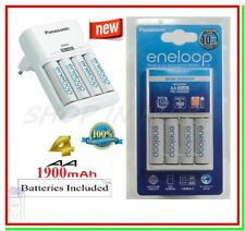 Caricabatterie PANASONIC ENELOOP BQ-CC51E + 4 Batterie Pile STILO AA 1900 mAh