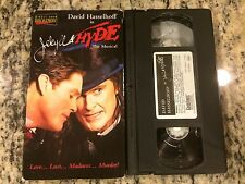 JEKYLL & HYDE THE MUSICAL RARE OOP VHS! 2001 DAVID HASSELHOFF LIVE THEATER HTF!
