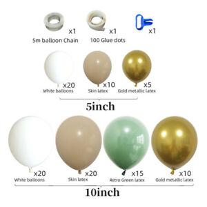 100PCS Green Balloon Arch Set Garland Ballon Birthday Baby Shower EM Kit Wedding