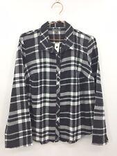 Gap Body Lounge Shirt Women's Size Small Black & Grey Flannel Light 0622