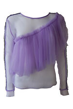 *MAKI OH* SHEER TULLE RUFFLED BLOUSE (S)