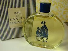 Vintage Men's EAU de LANVIN  3 Oz New in Box Rare Eau de Toilette