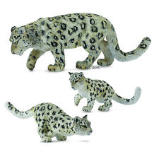 *NEW* CollectA 88496 88497 88498 Snow Leopard Adult Cub Cubs Group - Set of 3