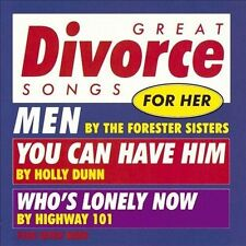 Great Divorce Songs for Her by Various Artists (Cassette, May-1994, Warner Bros.