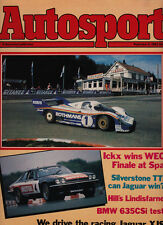 Autosport 9 Sep 1982 -  Spa 1000 Kms Porsche 1-2,  TWR Jaguar XJS, BMW 635 Csi