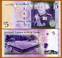 P-38 2 Pa/'anga New Signature UNC /> Rugby ND Tonga 2008; 2014 Kingdom