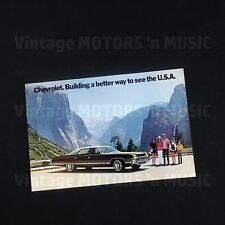 1972 Chevrolet UNCIRCULATED Caprice Sedan in Yosemite 9 x 6 Sales Promo Postcard