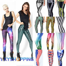 Women 3D Print Pants Leggings Jeggings Fitness Yoga Gym Sports Trousers Bottoms