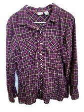 Womens LL BEAN Flannel Shirt Large EUC Button Down Comfortable Long Sleeve