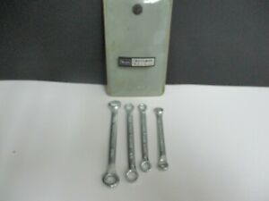 Vintage CRAFTSMAN 4pc Metric Midget Box End Wrench Set 9-4377 -V- SERIES USA