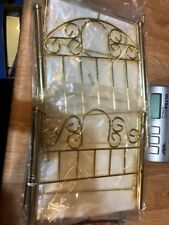 """Magic Attic Doll Brass Bed With Mattress 22"""" And Blanket Pillow Sheets New"""