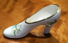 Vintage Kenall Staffordshire White And Gold  Miniature shoe