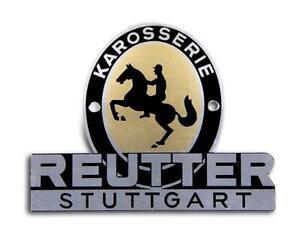New Genuine Porsche Pre A 356 1953 To 1955 Reutter Badge PSP72300200