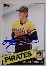 John Tudor Pirates Cardinals Red Sox Autographed 1985 Topps #214 Signed Card 16L