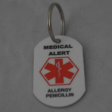 Medical Alert tag keyring for Allergy to Penicillin