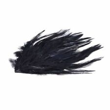 Rooster Hackle Feather Pad Costume Hair Feather Accessories--Black R6H7