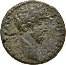 Ancient Rome AD 161-180 MARCUS AURELIUS MACEDON KOINON THUNDERBOLT AE