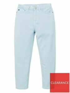 Calvin Klein Jeans Girls Relaxed High Rise Ankle Grazer Jeans - Blue - 12 years