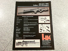 1999 HECKLER & KOCH HK SL8-1 Semi-Automatic Rifle Advertisement/ Brochure
