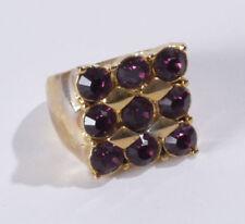 Gelbgold beschichtete Modeschmuck-Ringe für Damen mit Ø) 56 (17,8